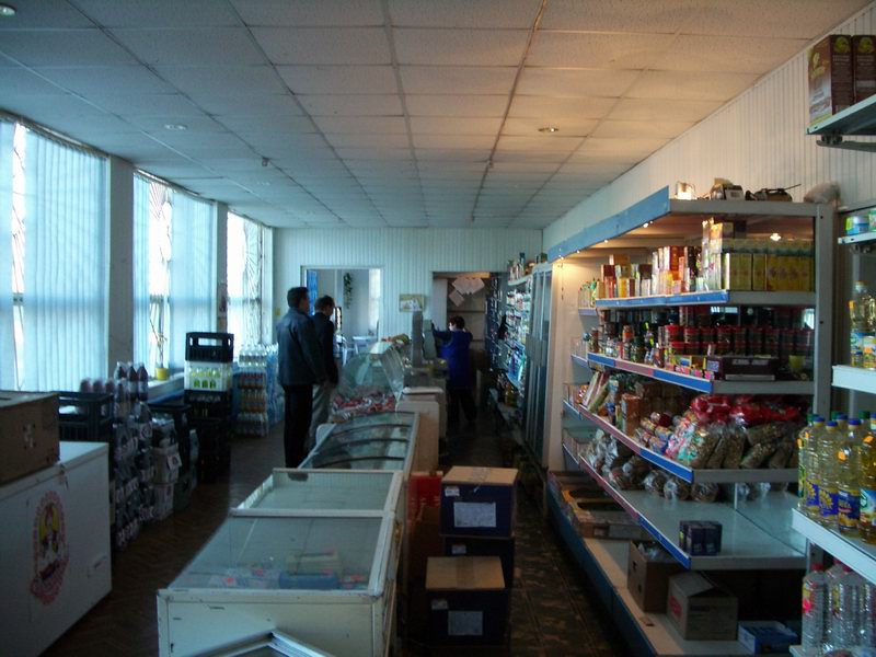 Shop at Chernobyl Village serving liquidators and refuseniks